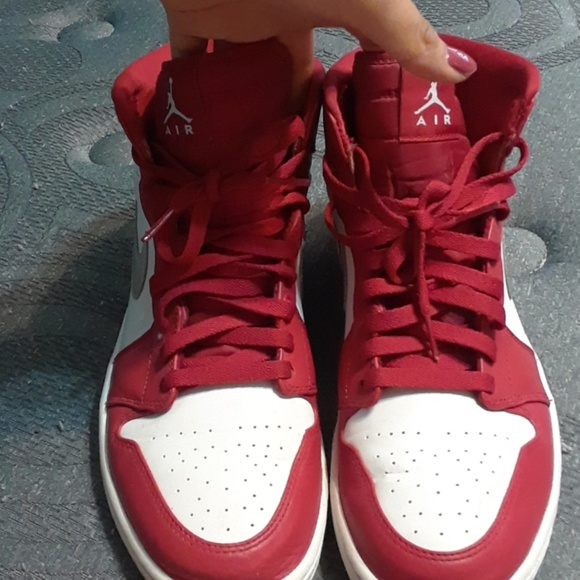nike air jordan Shoes   Red White
